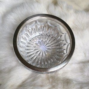 Silver Crystal Jewelry Holder bowl Candy Dish